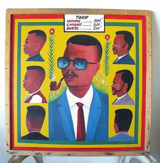 Barbershop Ad | Francophone West Africa ca. 1960s